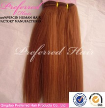 Wholesale top quality orange yaki human hair weft accept paypal & escrow