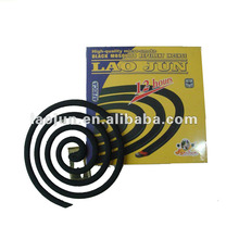 AFRICA market hot-sell smokeless 100% natural fiber black mosquito coil