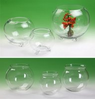 High Quality Desktop Multi-shaped Clear Mini / Large Glass Fish Bowl