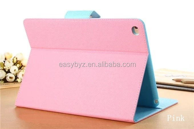 brand new case for ipad air 2, wallet pouch case for ipad 6, leather flip case for ipad 6