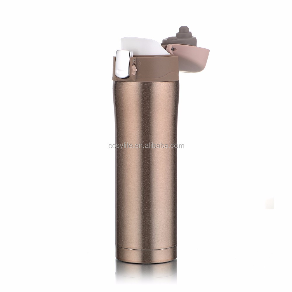 Cosylife good quality 500ml Car Thermos Mug/ Vacuum Insulated Water Bottle ,Steel Travel Bottle