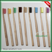 Free Sample China 100% Nature Eco-Friendly China Biodegradable Wooden Toothbrush Bamboo Wholesale Toothbrush