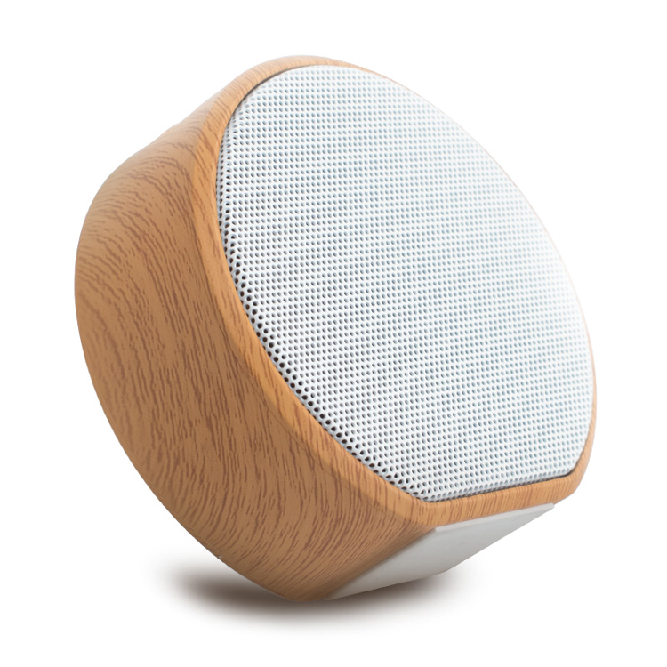 Round Wood Grain Subwoofer Stereo Mini Outdoor Portable Wireless Bluetooth <strong>Speaker</strong>