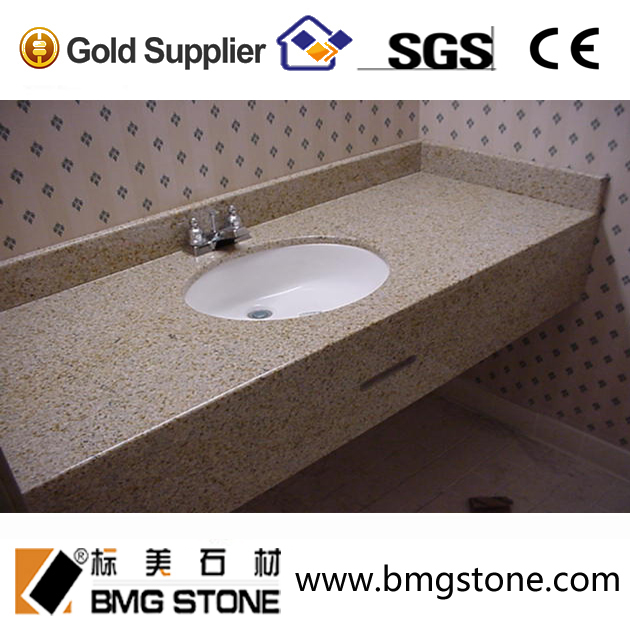 high polished beige commercial bathroom sink countertop