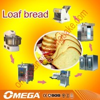 Demark croissant bread production line used Electric Rotary Oven and dough mixer