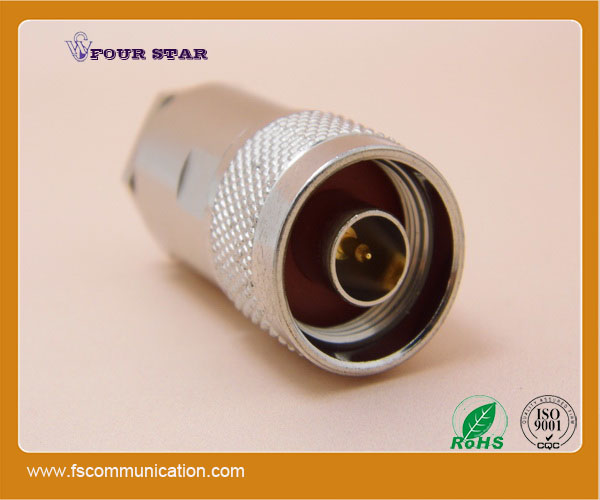 n male clamp rf connector for 8d-fb cable
