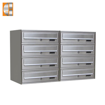 GH-V24S stainless steel modern combination standing mailbox