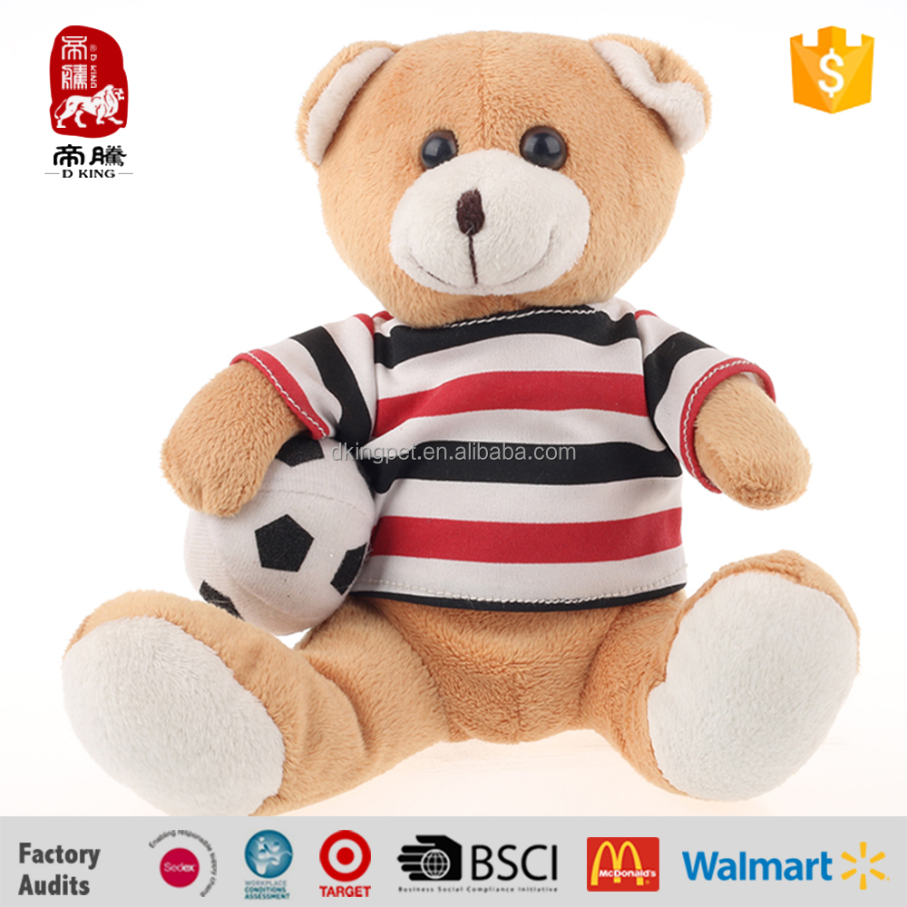Made in china colorful clothes birthday mini teddy bear plush toy wholesale
