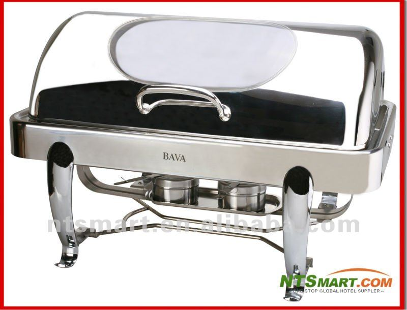 Chafing Dishes, Made of High-grade Stainless Steel, with Fuel Holder Design and Sliver Holder Leg