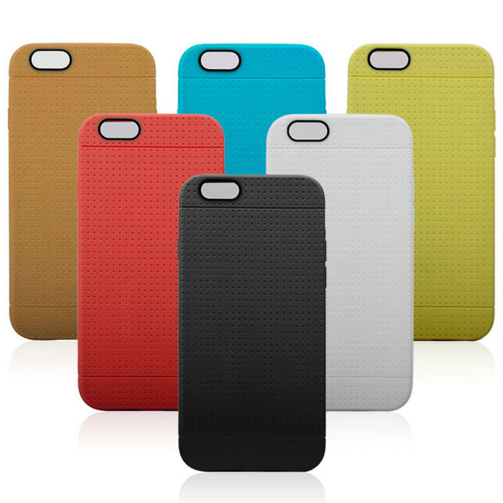 Fashion Honeycomb Dot Soft Silicone Back Cover Case For iPhone 6 6s