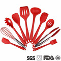 Kitchen Silicone Utensil Set Heat-Resistant 446F 10pc Spatula Spoon Baking Cooking Gadgets