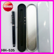 HH-5605 Metal led Ballpoint Pen Gift With LED&Laser Light, Retractable Presentation Pointer Optional Metal Box