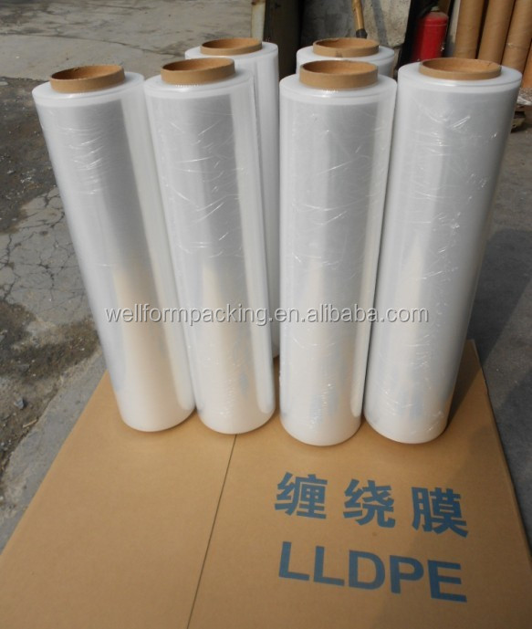 2015 hot sale lldpe stretch wrap film for pallet cover usage