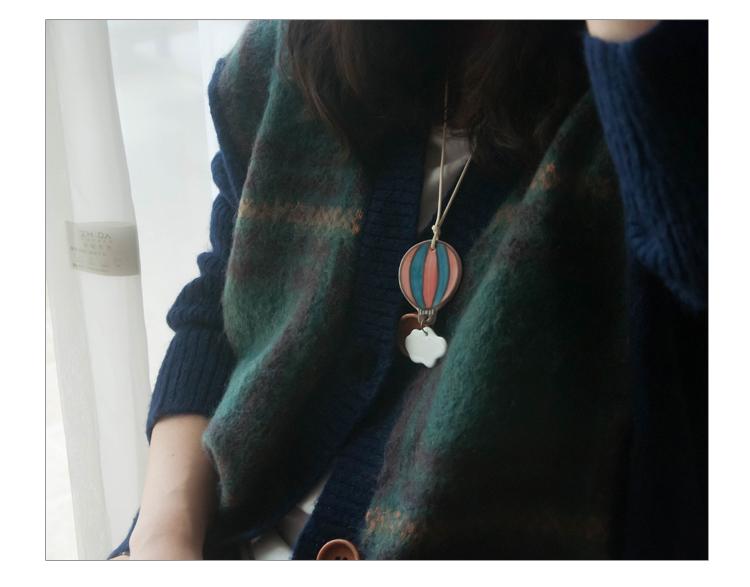 necklace ballon fresh color hot pendant necklace ceramic accessories for dress hot sale dream in the sky