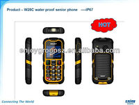 "2.0"" GPRS SOS IP67 unlock code Dual SIM big keyboard rugged phone with strong torch light"