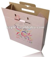 Ecofriendly sturdy color corrugated box with handle