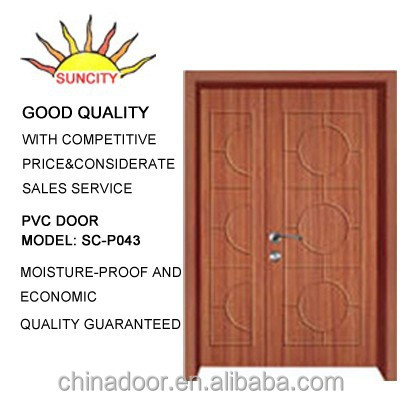 Panel industrial produced pvc plastic louvered door