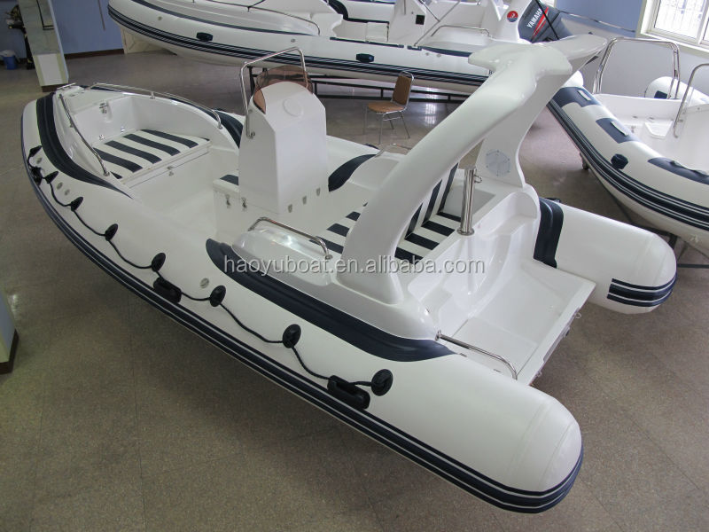 19ft/5.8m rigid inflatable RIB boat FRP boat with CE, hypalon or PVC,fishing boat