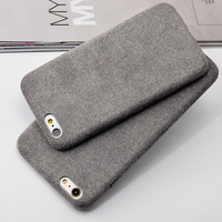 Noble classical heat case for iPhone6 ,following for apple 6 plus soft flannelette grind arenaceous case drop soft shell