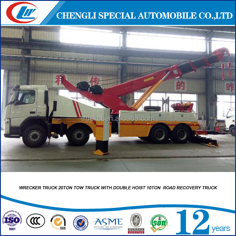 China best price 20ton 25ton 30ton Wheel Lift Wrecker towing truck with 10ton crane for sale