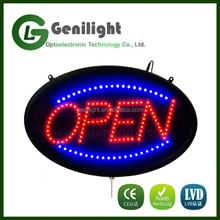 LED open sign oval type with remote control