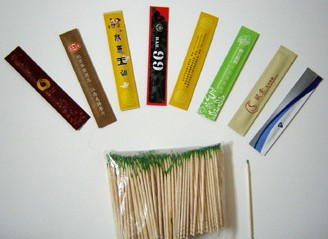 disposable party bamboo decorative fruit tooth stick