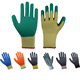 cheap knitted palm coated latex safety glove 10g and 21g