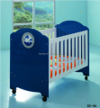 2016 modern baby bed was made by E1 MDF board for baby furniture