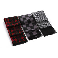 New arrival autumn 2015 Light Polyester Scarf Shawl For Men Fashion Plaid Printed Men Scarf Wraps