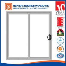 hot sale Aluminum sliding window with double glazed toughened glass for office and house