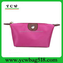 Hot pink nylon cosmetic/makeup bags/cases