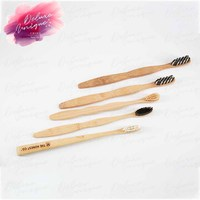 2018 Hot Selling Personalized Natural Mini Bamboo Charcoal Toothbrush for Home, Travel and Hotel