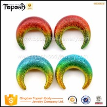 Toposh body Jewelry Acrylic Paint Ear Pinchers,Ear Expanders Gauges Factory China body jewelry piercing manufacturer