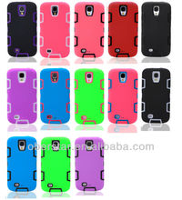 New Hard Case Three in One Hybrid Rubber Impact Case Cover For Samsung Galaxy S4
