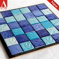 Pool tiles blue ceramic mosaic and cheap interior decoration mosaic tiles