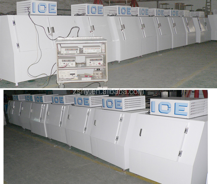 Direct Cooling Bagged Ice Merchandiser for gas station use