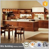 Cherry Solid Wood Kitchen Cabinet, Modern Kitchen Cabinet Solid Wood