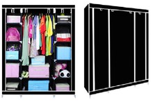 folding portable wardrobe with veneer wardrobe door designs