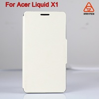mobile phone accessories dubai for Acer Liquid X1 window view leather case