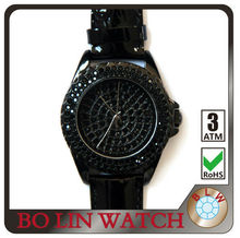 fashion lady watch with crystal stones