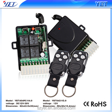 High Quality Dc 12v 10a 4 Ch Channel Rf Wireless Relay Remote Control Switch 315 Mhz 433 Mhz Transmitter Receiver