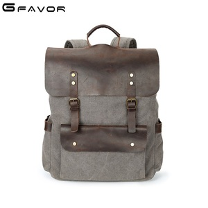 Urban design waterproof stylish trendy unisex canvas backpack back pack college laptop office bags bagpack for men
