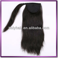 China wholesale factory supply new fashion indian hair little girls ponytail hair extensions