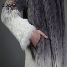 Best Quality Rabbit Fur Shearing Long Garment For Russian People Real Animal Fur Overcoat With Belt