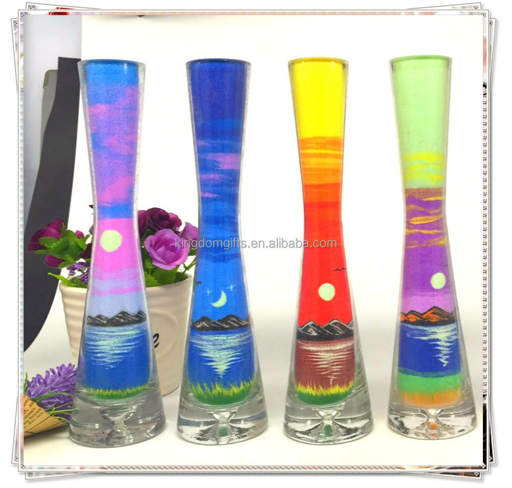 Nature Theme Feature sand painting art bottle,glass and art bottles for custom