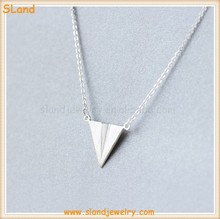 Wholesale Minimalist style kids airplane model 925 silver Paper Aircraft Charm Pendant Necklace Jewelry made in China