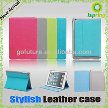 Simple designd, factory manufacture cell phone leather case ,for ipad mini cover