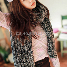 2015 new product winter Korean fashion version spell color mixing malewarm wool knit long thick scarf for women