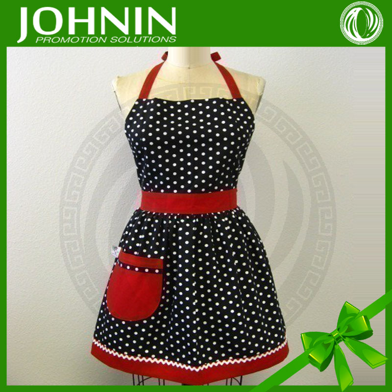 factory price new arrive cotton apron with red pocket