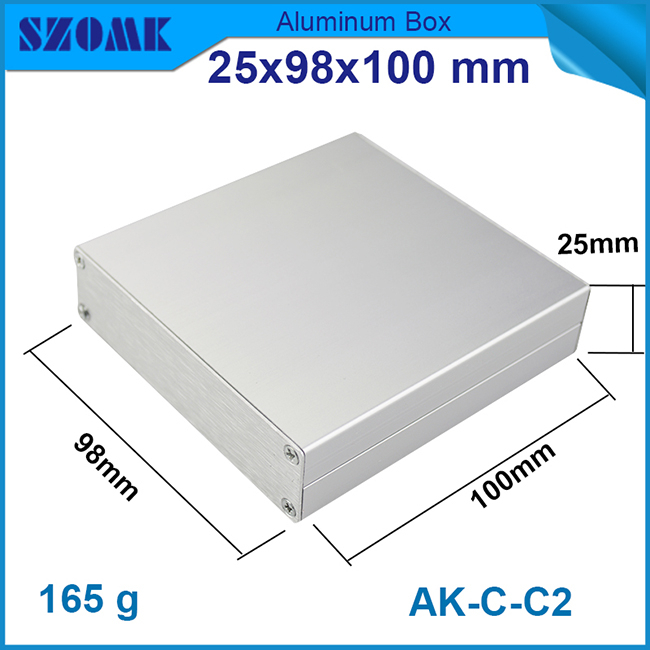 25*98*100 mm new diy brushed aluminum case for electronical device/digital/power supply/industry controller Electronics and PCB